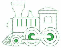 Train Outline embroidery design