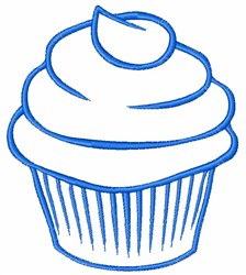 Cupcake Outline embroidery design