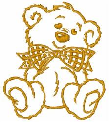 Teddy Bear Outline embroidery design