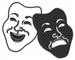 Comedy Tragedy Mask embroidery design