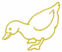 Goose Outline embroidery design