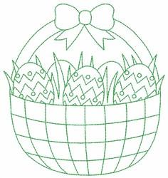 Easter Basket Outline embroidery design