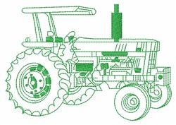 Tractor Outline embroidery design