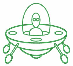 Alien Spaceship embroidery design