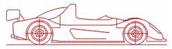 Racecar Outline embroidery design