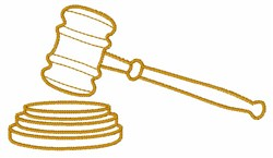 Gavel embroidery design
