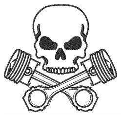 Skull and Tools embroidery design