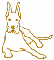 Great Dane Outline embroidery design