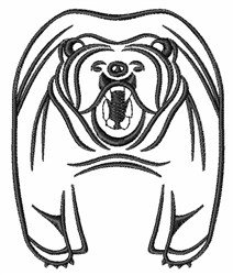 Grizzly Bear Outline embroidery design