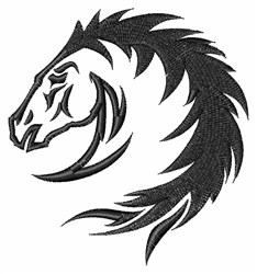 Wild Horse Head embroidery design