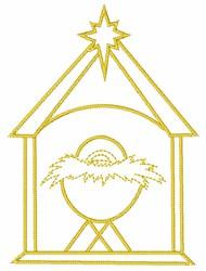 Nativity Scene embroidery design