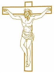 Jesus On Cross embroidery design