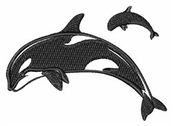 Orca Whales embroidery design