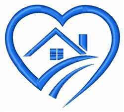 Home in Heart embroidery design