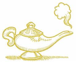 Magic Lamp embroidery design