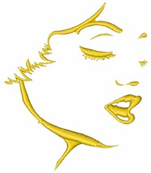 Womans Profile embroidery design