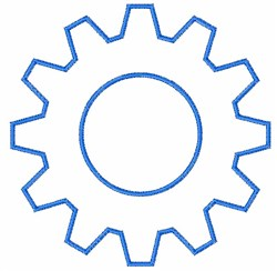 Gear Outline embroidery design