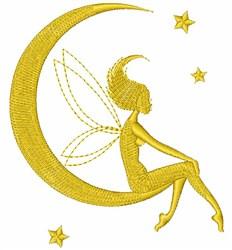 Fairy On Moon embroidery design
