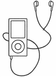 Ipod embroidery design