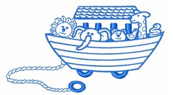 Boat of Animals embroidery design