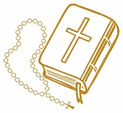 Bible And Rosary embroidery design