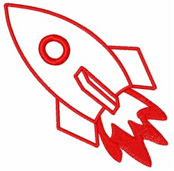 Rocket Ship embroidery design