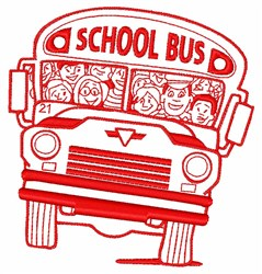 School Bus embroidery design