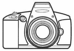 Camera Outline embroidery design