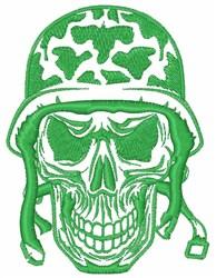 Motorcycle Helmet Skull embroidery design