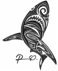 Whale Art embroidery design