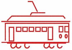Tram Outline embroidery design