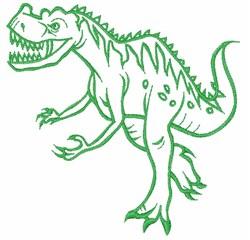 Dinosaur Outline embroidery design