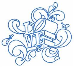 Swirl Love embroidery design