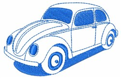 Volkswagon Bug embroidery design
