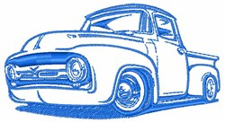 Classic Truck Outline embroidery design