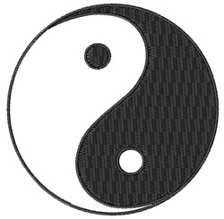 Ying Yang embroidery design