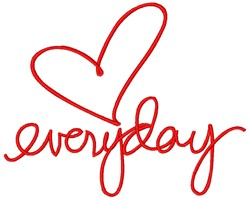 Everyday embroidery design