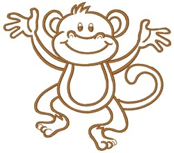 Monkey embroidery design