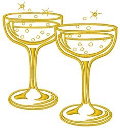 Champagne embroidery design