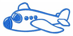 Toy Plane Outline embroidery design