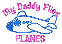 Daddy Planes embroidery design
