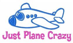 Plane Crazy embroidery design