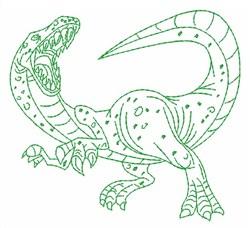 Dinosaur Raptor Outline embroidery design