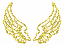 Angel Wings Outline embroidery design