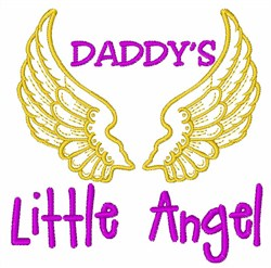 Daddys Little Angel embroidery design