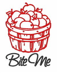 Apples Bite Me embroidery design