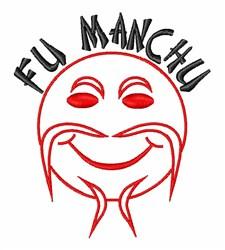 Fu Manchu embroidery design