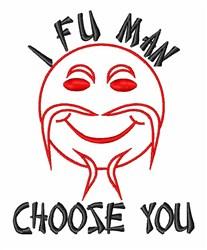 Fu Man Choose You embroidery design
