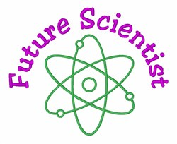 Atom Future Scientist embroidery design