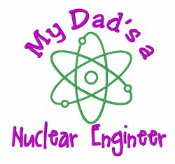 Dad Nuclear Engineer embroidery design